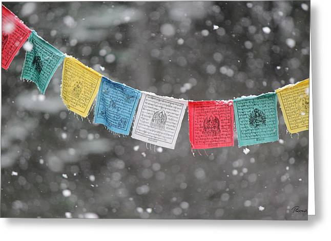 Snow Prayers Greeting Card