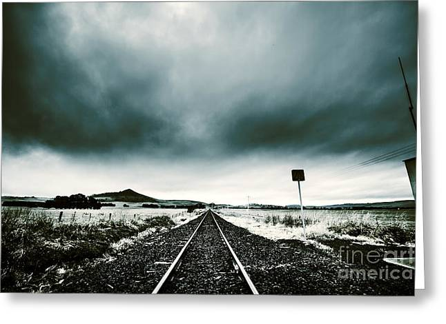 Greeting Card featuring the photograph Snow Railway by Jorgo Photography - Wall Art Gallery