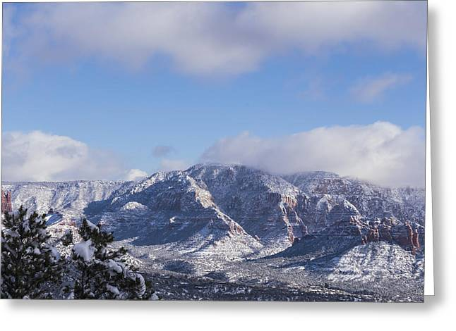 Greeting Card featuring the photograph Snow Rim by Laura Pratt