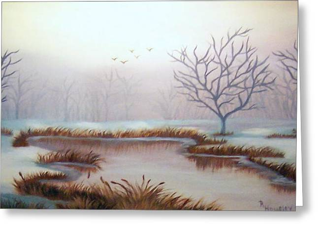 Snow Scene Greeting Card by Ruth  Housley