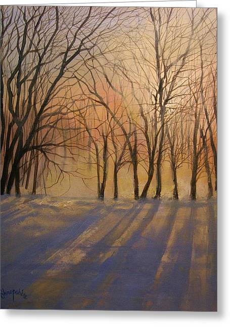 Snow Shadows Greeting Card by Tom Shropshire