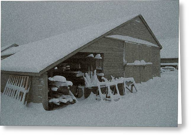Snow Shed Greeting Card by Paul Barlo
