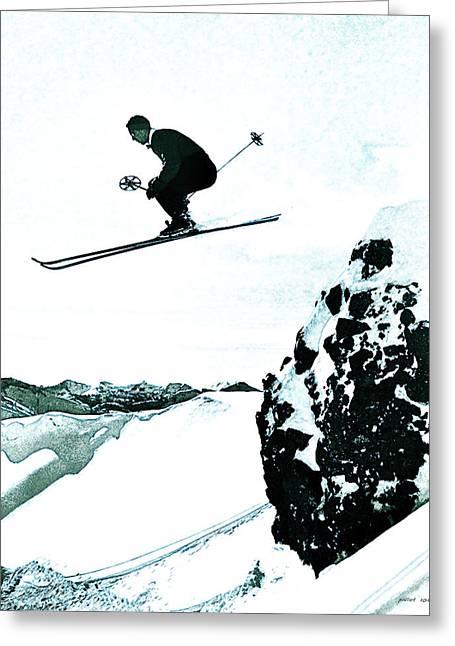 Snow Skiing Greeting Card