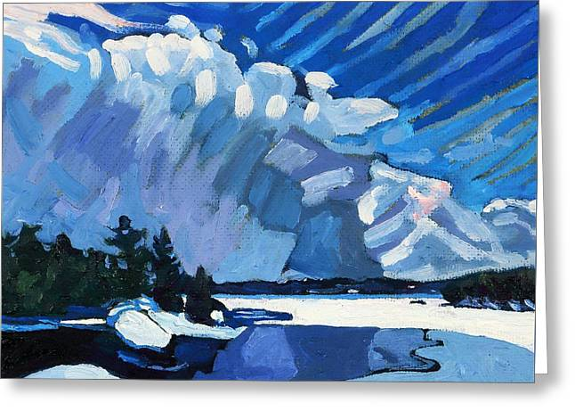 Snow Squalls Greeting Card by Phil Chadwick