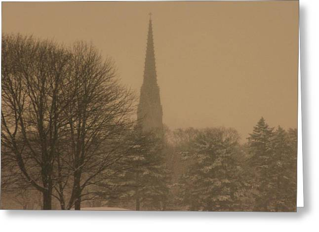 Snow Storm Greeting Card by Dennis Curry