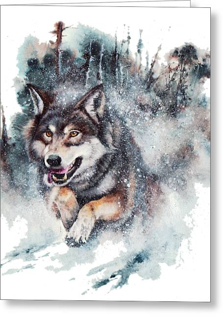 Snow Storm Greeting Card