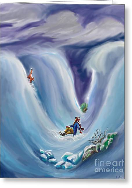 Snow Tang - Story Illustration 6 - Age 12 Greeting Card by Dawn Senior-Trask