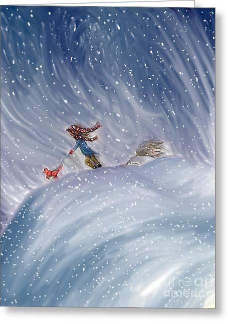 Snow Tang - Story Illustration 7 - Age 12 Greeting Card