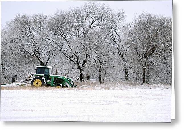 Snow Tractor Greeting Card