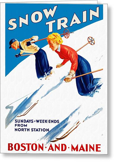 Snow Train - Restored Greeting Card