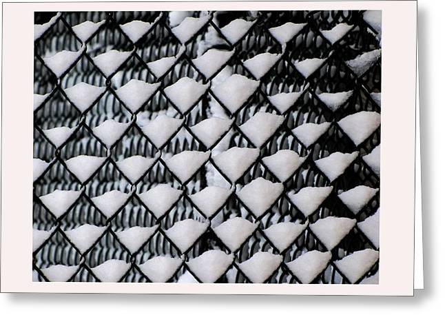 Snow Triangles After Storm Greeting Card by Rene Crystal