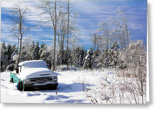 Snow Truck Greeting Card