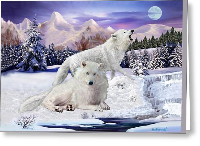 Snow Wolves Of The Wild Greeting Card