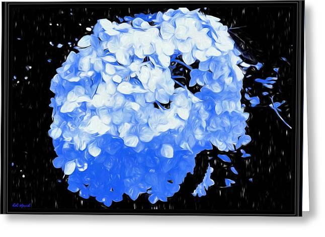 Snowball In Blue Shadows Greeting Card