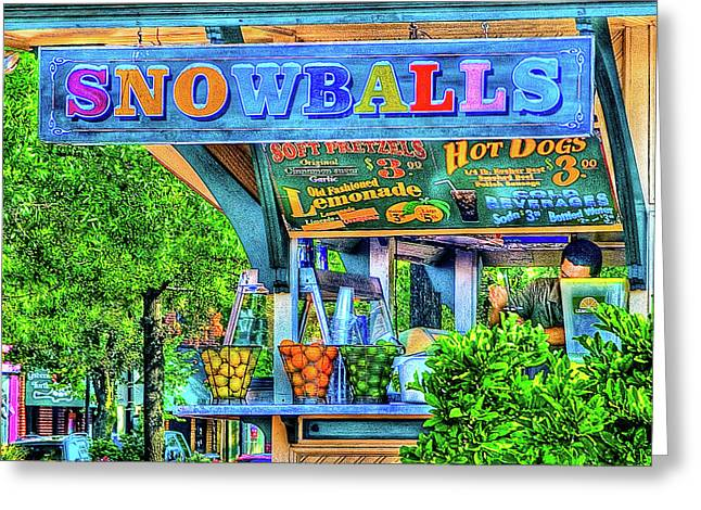 Greeting Card featuring the photograph Snowballs And Lemonade by Dennis Dame
