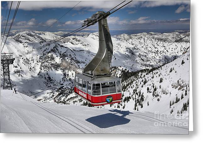 Snowbird Cable Car Greeting Card