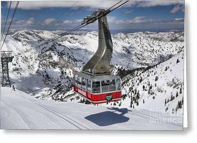 Snowbird Hidden Peak Tram Greeting Card