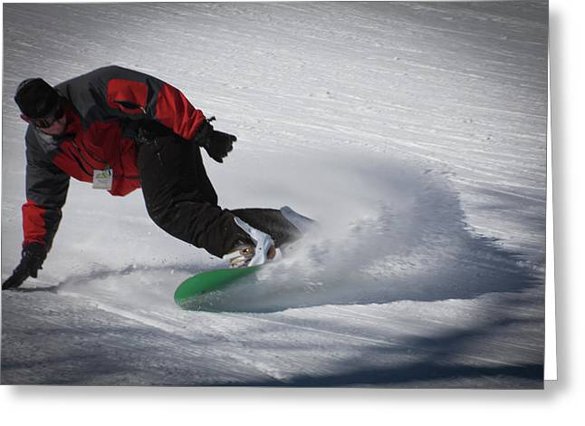 Snowboarder On Mccauley Greeting Card