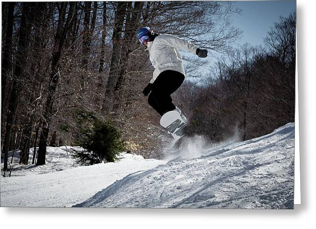 Greeting Card featuring the photograph Snowboarding Mccauley Mountain by David Patterson