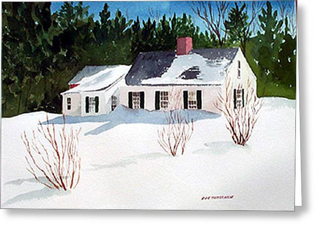 Snowbound Greeting Card by Anne Trotter Hodge
