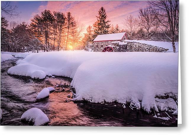 Snowbound Dawn Greeting Card