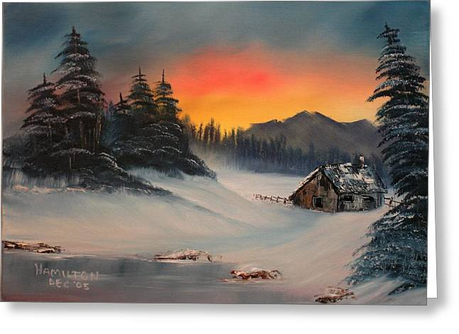 Snowbound Sunrise Greeting Card
