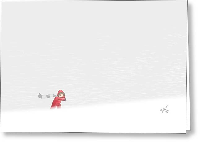 Snowboy Greeting Card
