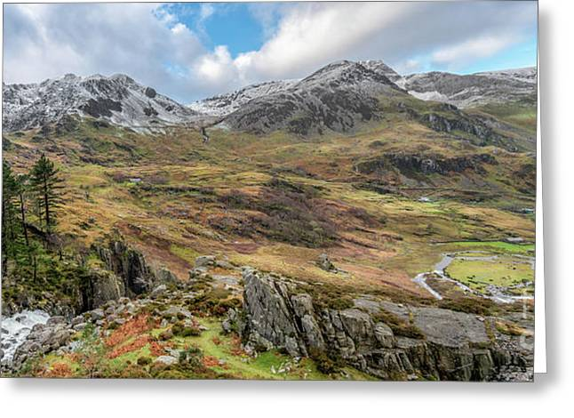 Snowcapped Snowdonia Greeting Card by Adrian Evans