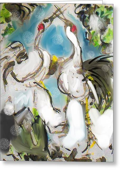 Snowcranes Greeting Card