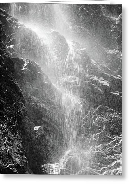 Snowcreek Falls Greeting Card by Raymond Salani III