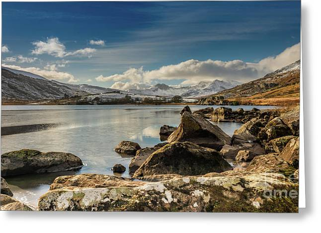 Snowdon From Llynnau Mymbyr Greeting Card by Adrian Evans