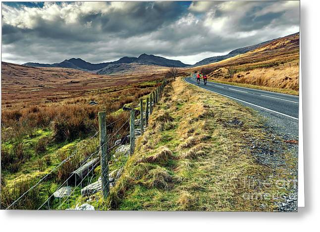 Snowdon Cyclists Greeting Card