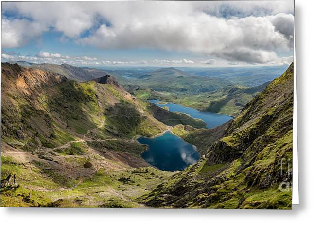 Snowdon Summit Greeting Card by Adrian Evans