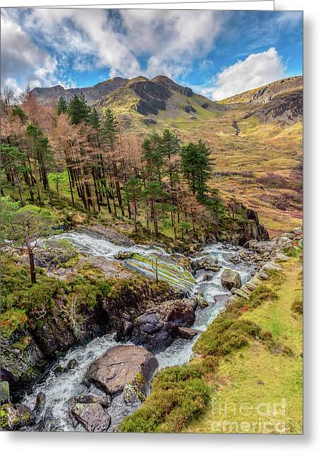 Snowdonia Landscape Winter Greeting Card by Adrian Evans