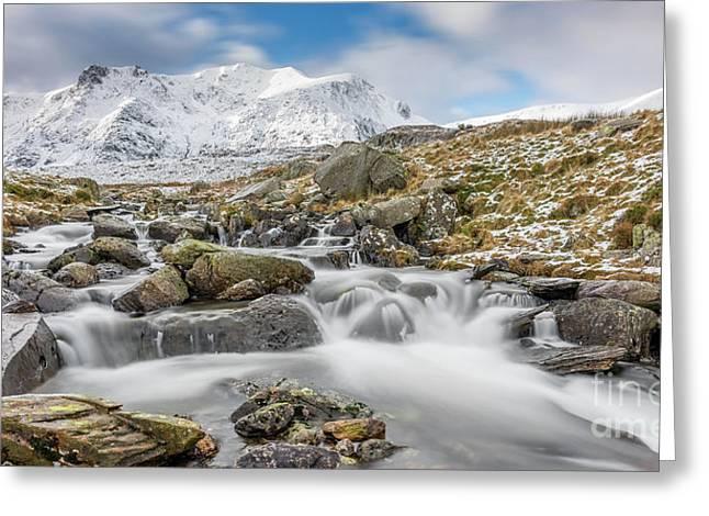 Snowdonia Mountain River Greeting Card