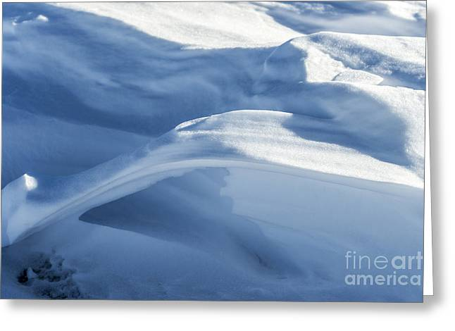 Greeting Card featuring the photograph Snowdrift Structure by Angela DeFrias