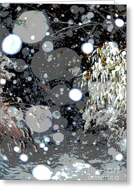 Snowfall Deconstructed Greeting Card by Li Newton