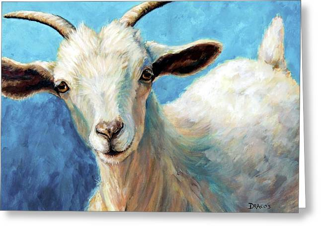 Snowflake, A Baby Cashmere Goat Greeting Card