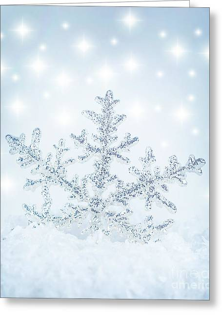 Snowflake Background Greeting Card