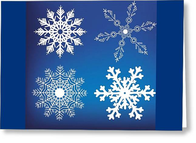 Snowflake Blue  Greeting Card