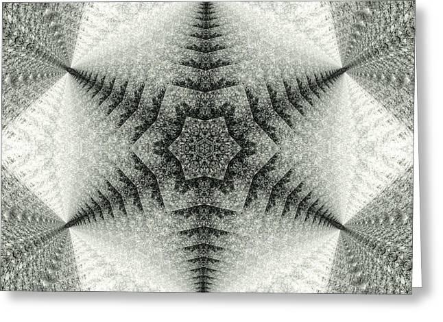 Snowflake Kaleidoscope IIi Greeting Card