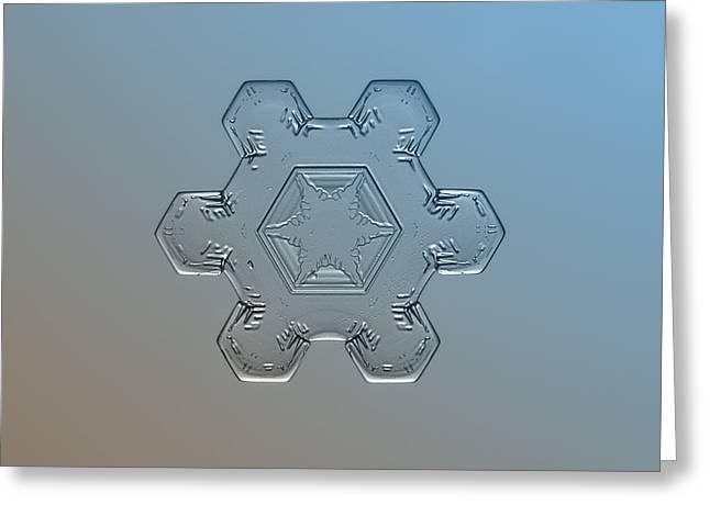 Snowflake Macro - Snow Flower Greeting Card by Alexey Kljatov