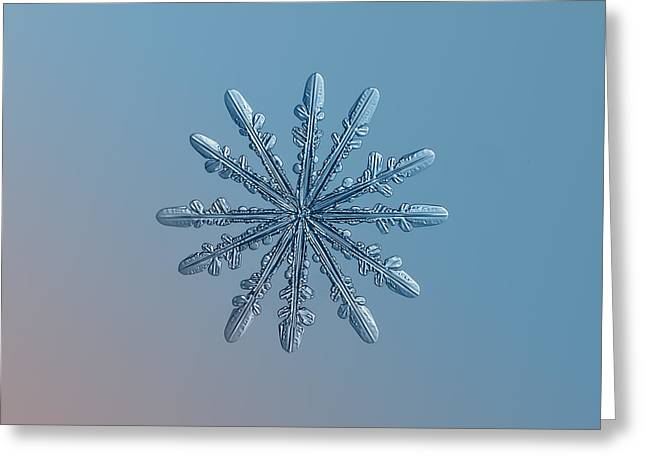 Snowflake Photo - Chrome Greeting Card