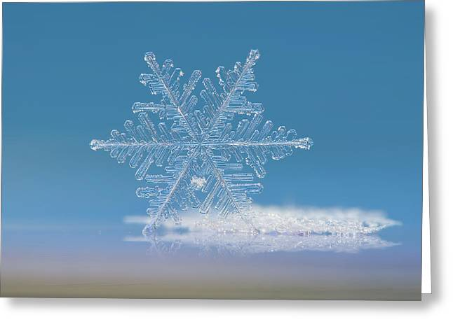 Snowflake Photo - Cloud Number Nine Greeting Card