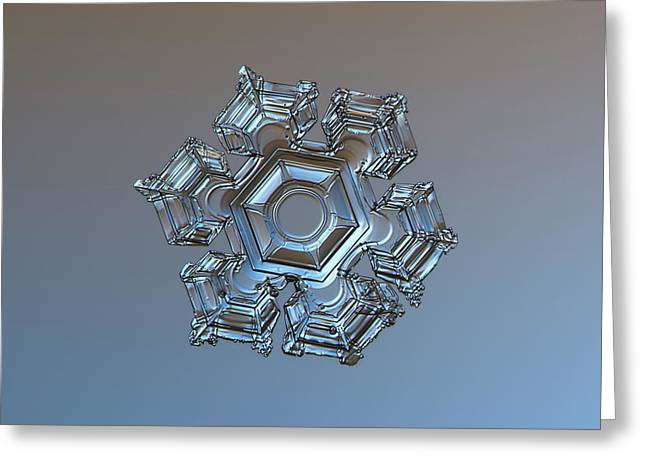 Snowflake Photo - Cold Metal Greeting Card