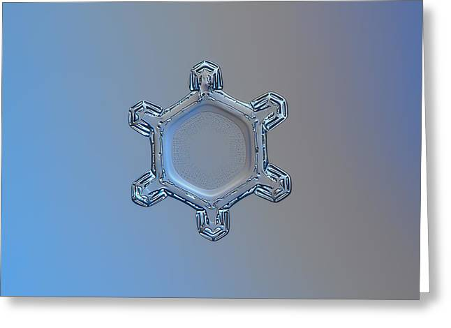 Snowflake Photo - Dusty Mirror Greeting Card by Alexey Kljatov