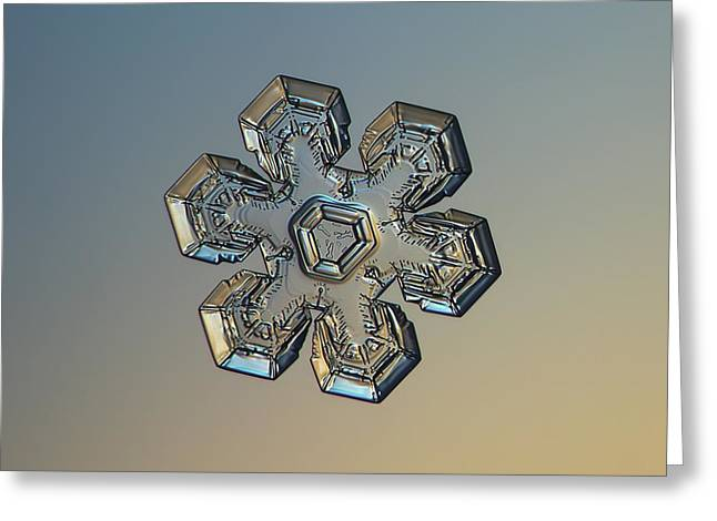 Snowflake Photo - Massive Gold Greeting Card