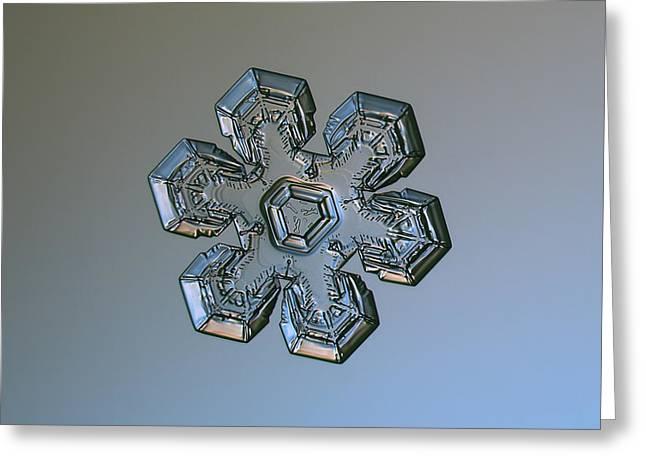 Snowflake Photo - Massive Silver Greeting Card