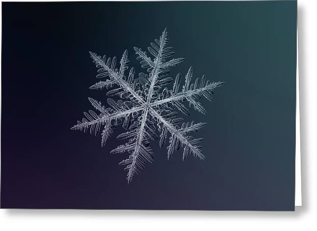 Snowflake Photo - Neon Greeting Card