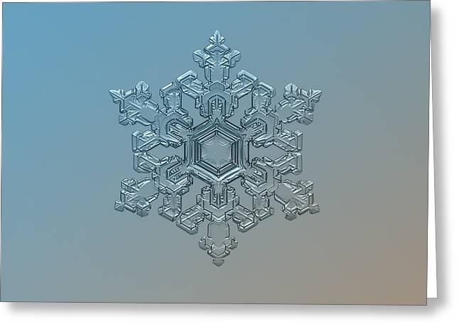 Snowflake Photo - Ornate Pattern Greeting Card